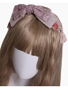 billiga Lolitaaccessoarer-Lolita Accessoarer Huvudbonad Söt Lolita Dam Rosa / Vit lolita tillbehör Blomma Huvudbonad Halloweenkostymer