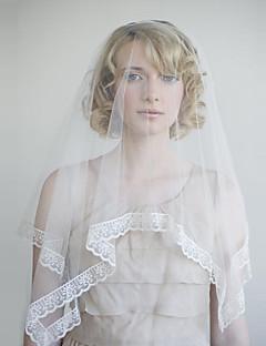 billiga Brudslöjor-Ett lager Vintage Stil / Klassisk Stil Brudslöjor Fingertopp Slöjor med Enfärgad Tyll
