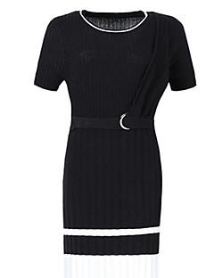 Χαμηλού Κόστους SHYSLILY-Γυναικεία Αργίες / Εξόδου Λεπτό Πλεκτά Φόρεμα Μίντι