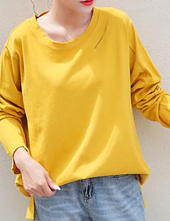 billige T-shirt-Tynd Dame - Ensfarvet I-byen-tøj T-shirt
