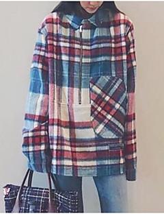 billige T-shirt-Tynd Dame - Farveblok I-byen-tøj T-shirt