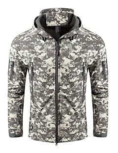 tanie Odzież turystyczna-Męskie Military Tactical Jacket Kurtka softshell turystyczna na wolnym powietrzu Jesień Zima Odporność na wiatr Zdatny do noszenia POLI Elastyna Terylen Top Podwójne slidery Wojsko Sporty zimowe Biały
