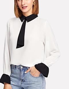billige Bluse-Dame - Ensfarvet Basale Bluse