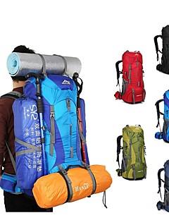 billiga Ryggsäckar och väskor-75 L Ryggsäckar / Ryggsäck - Lättvikt, Regnsäker, Mateial som andas Utomhus Camping, Resor Nylon Röd, Grön, Blå