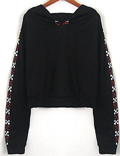 tanie Damskie bluzy z kapturem-Damskie Moda miejska Bluza z Kapturem - Kolorowy blok