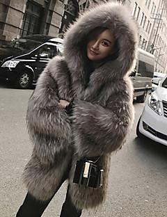 Χαμηλού Κόστους Γούνα-Γυναικεία Γούνινο παλτό Κομψό στυλ street / Εκλεπτυσμένο - Μονόχρωμο