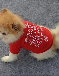 billiga Hundkläder-Hund / Katt Väst Hundkläder Citat och ordspråk / Snöflinga Röd Polär Ull Kostym För husdjur Unisex Klassisk / Jul