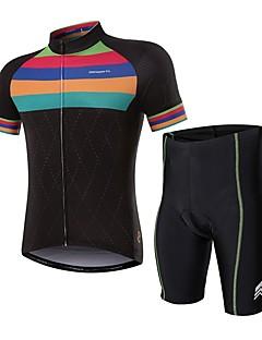 billige Sett med sykkeltrøyer og shorts/bukser-Kortermet Sykkeljersey med shorts - Svart Sykkel Fort Tørring Regnbue / Elastisk