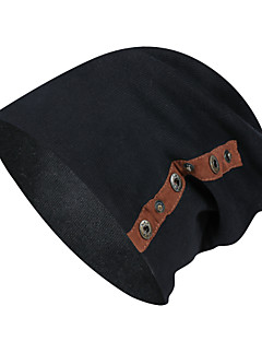 billige Tilbehør-Turcaps Skelett Caps Hold Varm Høst Vinter Mørkegrå Unisex Utendørs Trening Vintersport Klassisk Voksen / Mikroelastisk