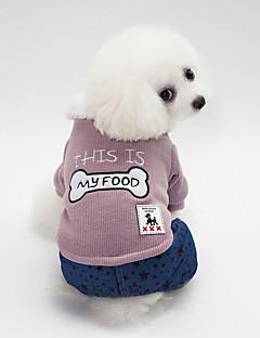 billiga Hundkläder-Hund Tröjor Hundkläder Brittisk / Ben / Stjärnor Rosa / Mörkgrön Cotton Kostym För husdjur Unisex Håller värmen / Flätad / snöre