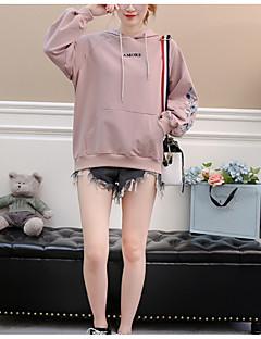 baratos Moletons com Capuz e Sem Capuz Femininos-Mulheres Moda de Rua Moletom Floral
