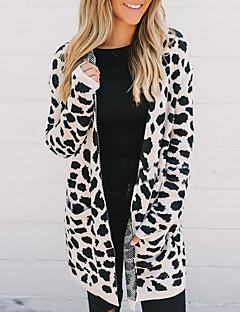 tanie Swetry damskie-Damskie Moda miejska Sweter rozpinany Geometric Shape