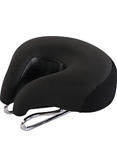 billige Setestolper og sadler-Sykkelsete Ekstra Bred Komfort Hynner PU Leather silica Gel Sykling Vei Sykkel Fjellsykkel Svart Oransje