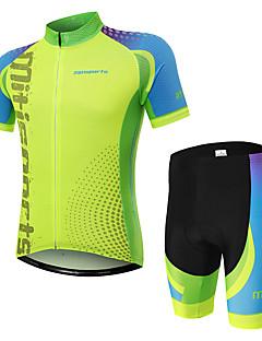 billige Sett med sykkeltrøyer og shorts/bukser-Kortermet Sykkeljersey med shorts - Grønn Sykkel Fort Tørring Spot / Elastisk