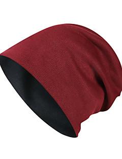 tanie Odzież turystyczna-Czapka turystyczna Czapka Skull Caps Zatrzymujący ciepło Jesień Zima Kawowy Unisex Ćwiczenia na zewnątrz Sporty zimowe Klasyczny Doroślu / Średnio elastyczny