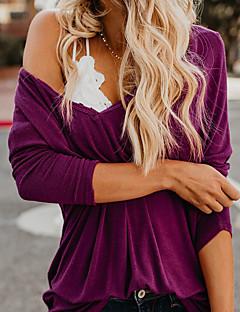 Χαμηλού Κόστους Women's Tops & Sets-Γυναικεία T-shirt Κομψό στυλ street Μονόχρωμο