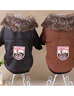 billiga Hundkläder-Hund / Katt Kappor Hundkläder Tecknat / Brittisk Kaffe Pälsimitation Kostym För husdjur Unisex Ledigt / vardag / Mode