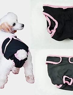 billiga Hundkläder-Hund Hälsovård / Byxor / Städning Hundkläder Enfärgad Blå / Rosa / Svart Cotton Kostym För husdjur Dam Unik design / Minimalistisk Stil