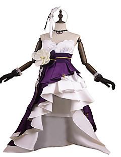 baratos Fantasias Anime-Inspirado por PrettyCure Princesa Anime Fantasias de Cosplay Ternos de Cosplay / Vestidos Moderno Sem Manga Luvas / Cinto / Fita de Cabelo Para Mulheres Trajes da Noite das Bruxas