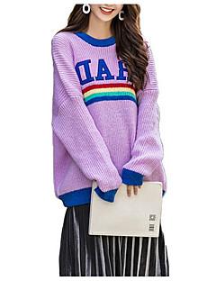 baratos Suéteres de Mulher-Mulheres Moda de Rua Pulôver - Letra