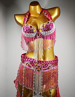 Χαμηλού Κόστους Ρούχα χορού της κοιλιάς-Χορός της κοιλιάς Σύνολα Γυναικεία Επίδοση Spandex Κρύσταλλοι / Στρας Σουτιέν / Ζώνη