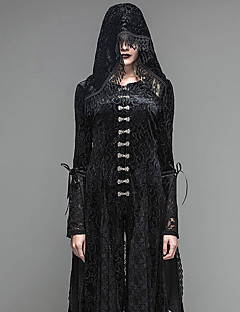 cheap Steampunk-Plague Doctor Steampunk Costume Women's Dress Black Vintage Cosplay Other Material Polyster Long Sleeve Bell Sleeve / Tassel