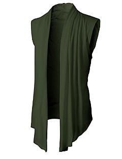 baratos Suéteres & Cardigans Masculinos-cardigan de algodão sem mangas para homem - cor sólida