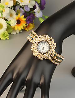 billige Armbåndsure-FEIS Dame Armbåndsur Quartz Kronograf Legering Bånd Analog-digital Mode Guld - Blå Gyldent Marine blå