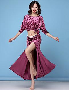 Χαμηλού Κόστους Ρούχα χορού της κοιλιάς-Χορός της κοιλιάς Σύνολα Γυναικεία Εκπαίδευση Spandex Διαφορετικά Υφάσματα / Εφαρμοστό / Με χώρισμα 3/4 Μήκος Μανικιού Χαμηλή Μέση Φούστες / Κορυφή