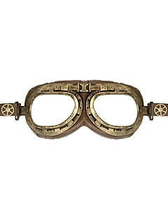 billiga Lolitamode-Cosplay Plague Doctor Steampunk Kostym Alla Glasögon Brun Vintage Cosplay Plast Krom Konstläder