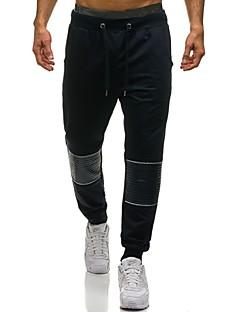 billige Herrebukser og -shorts-menns løse chinos / joggebukse bukser - fargeblokk