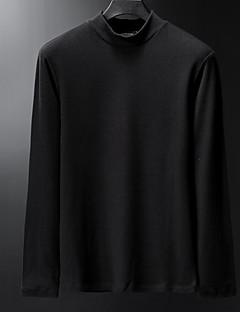billige Herre Toppe-Herre - Ensfarvet Basale T-shirt