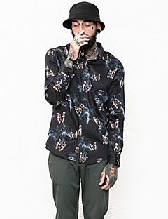 billige Herre Toppe-Herre - Geometrisk Basale Skjorte