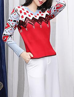 tanie Swetry damskie-Damskie Podstawowy Pulower Geometric Shape