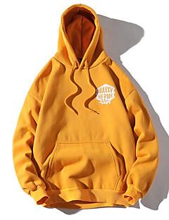 baratos Moletons com Capuz e Sem Capuz Femininos-hoodie de algodão de manga comprida para mulher - com capuz geométrico