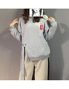 baratos Moletons com Capuz e Sem Capuz Femininos-camisola de manga comprida para senhora - colete de cor sólida