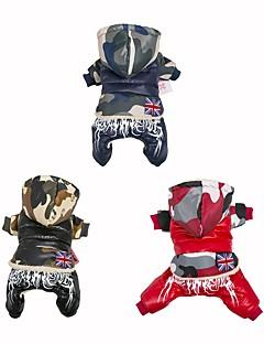 billiga Hundkläder-Hund / Katt Dunjackor Hundkläder Blommig / Botanisk Röd / Blå / Svart Ner / Cotton Kostym För husdjur Herr / Dam Klassisk / Färgblock