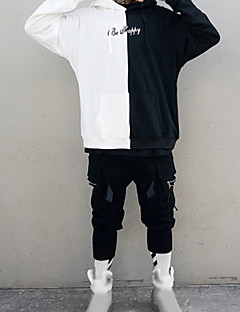 abordables Sweat-shirts pour Homme-Homme Grandes Tailles Ample Capuche Manches Longues Chic de Rue Sweat à capuche Bloc de Couleur