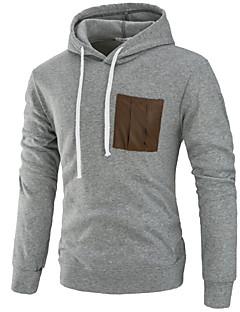 tanie Miesten hupparit ja collegepuserot-męska, luźna bluza z długimi rękawami i bawełną, z kapturem