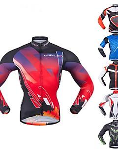 billige Sykkelklær-Realtoo Herre Langermet Sykkeljersey - Rød og Hvit Svart / Rød Grønn / Svart Klassisk Sykkel Topper Spandex polyster / Mikroelastisk