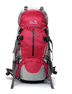 billiga Ryggsäckar och väskor-OSEAGLE 50 L Ryggsäckar / Ryggsäck - Vattentät, Regnsäker, Bärbar Utomhus Camping, Klättring Nät, Nylon Röd, Blå, ljusgrön