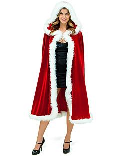 billige julen Kostymer-Cosplay Kostumer Kappe Santa Clothe Unisex Tenåring Voksne Dekke Opp Jul Jul Nytt År Festival / høytid Terylene Drakter Rød Ferie