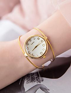 billige Armbåndsure-Dame Armbåndsur Quartz Afslappet Ur Legering Bånd Analog Mode Minimalistisk Sølv / Guld - Sølv Gyldent
