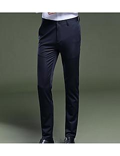 billige Herrebukser og -shorts-menns slanke chinosbukser - solid farget lavt midje
