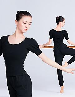 tanie Stroje do tańca latino-Taniec latynoamerykański Topy Damskie Szkolenie / Spektakl Elastyna / Lycra Marszcząca się Krótki rękaw Top