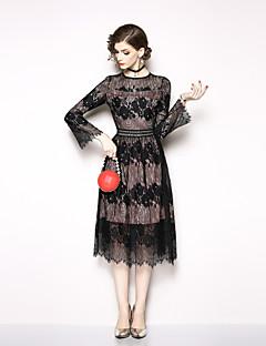 baratos Vestidos de Festa-Mulheres Elegante Bainha Vestido - Renda, Floral Médio