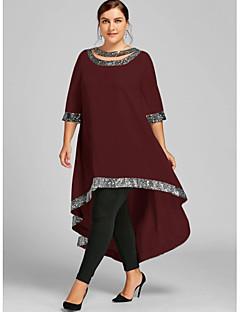 tanie Kolekcja Plus Size-Damskie Podstawowy Pochwa Sukienka Maxi