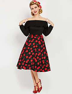 Marilyn Monroe The Marvelous Mrs. Maisel Polka Dots Retro   Vintage 1950s  Wasp-Waisted Costume Women s Tube dress Black Vintage Cosplay Polyster Long  Sleeve ... f85bcb72f0