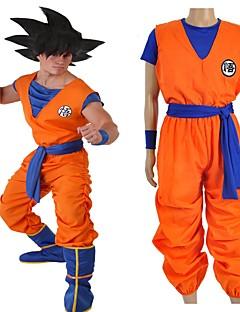 """billige Anime Kostymer-Inspirert av Dragon Ball Son Goku Anime  """"Cosplay-kostymer"""" Cosplay Klær Bokstaver N / A / Topp / Bukser Til Unisex"""