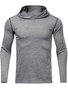 billiga Träning-, jogging- och yogakläder-UABRAV Herr V-hals T-shirt för jogging - Mörkgrå, Ljusgrå sporter Ensfärgat Överdelar Löpning, Fitness, Träna Långärmad Sportkläder Andningsfunktion, Snabb tork, Svettavvisande Elastisk / Vinter